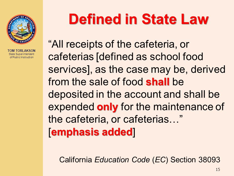 Defined in State Law