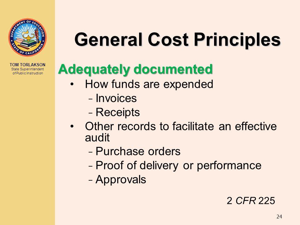 General Cost Principles