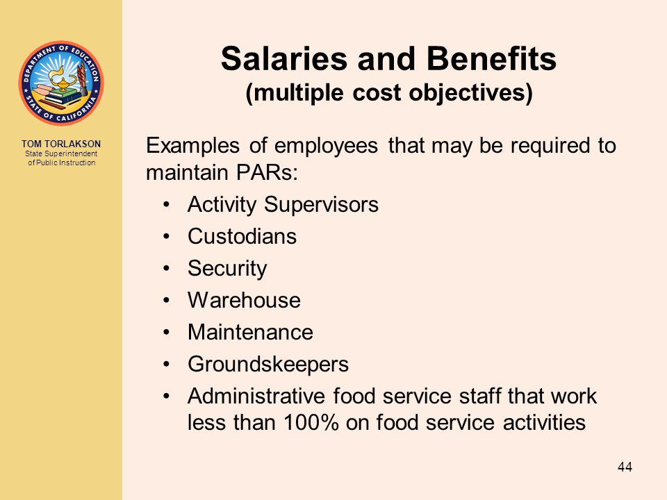 Salaries and Benefits (multiple cost objectives)