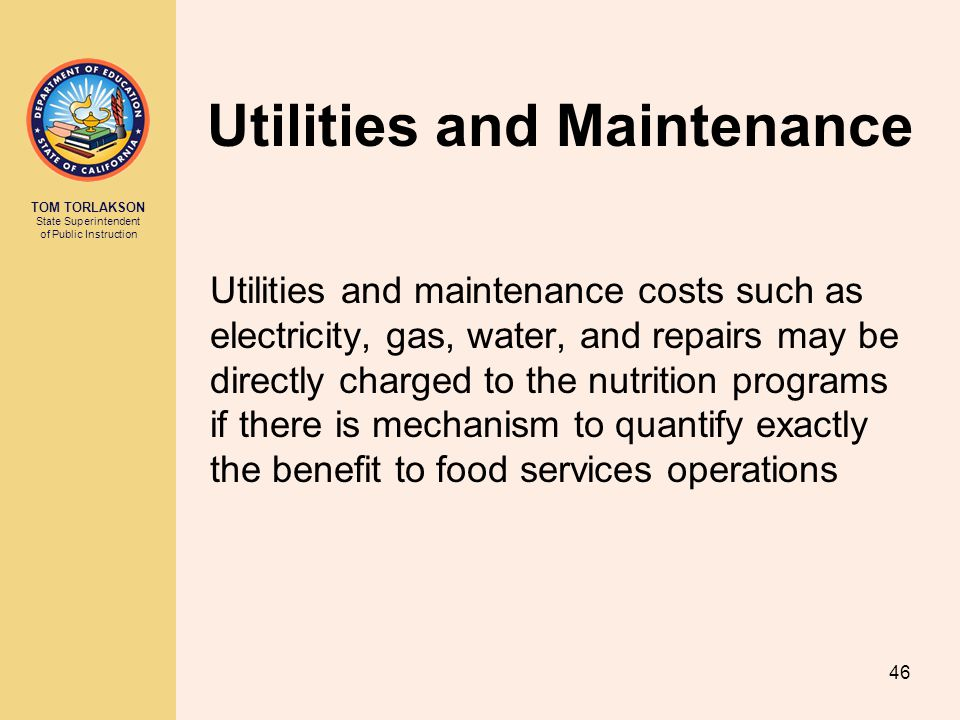 Utilities and Maintenance
