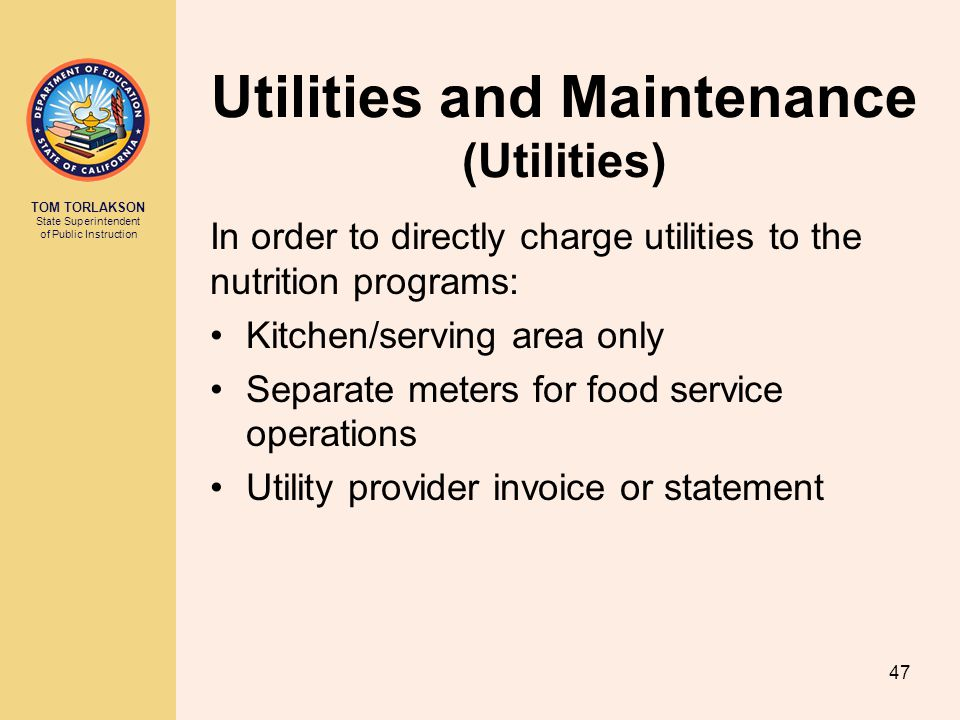 Utilities and Maintenance (Utilities)
