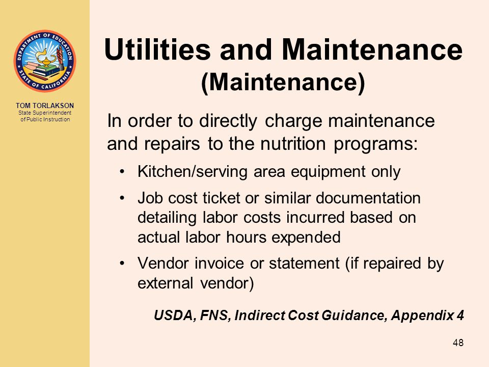 Utilities and Maintenance (Maintenance)