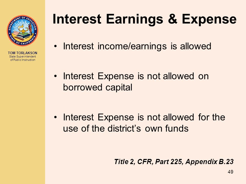 Interest Earnings & Expense