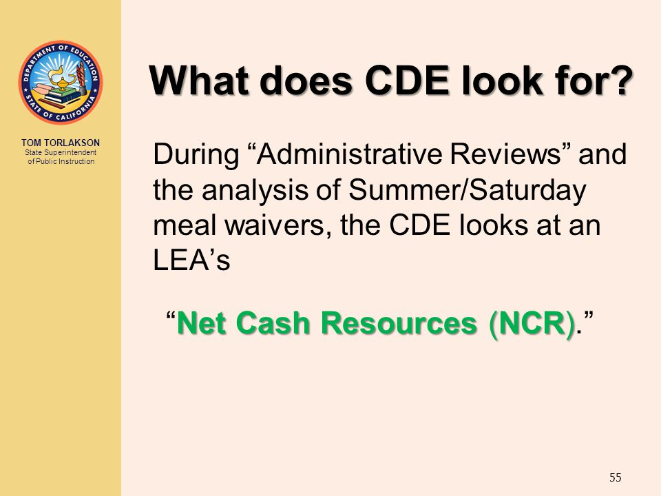 Net Cash Resources (NCR).