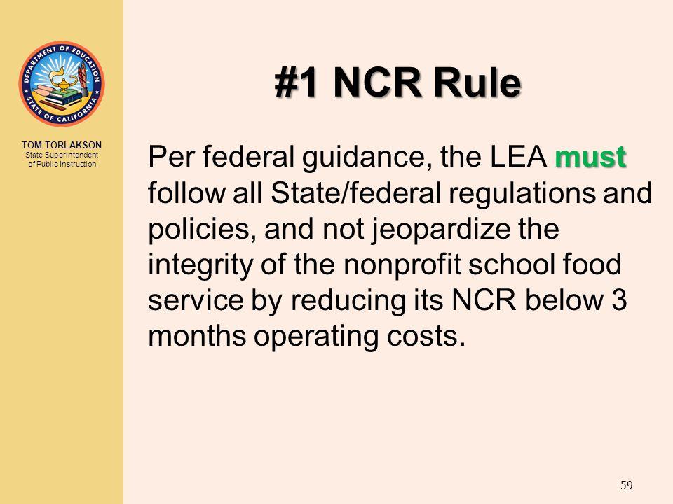 #1 NCR Rule
