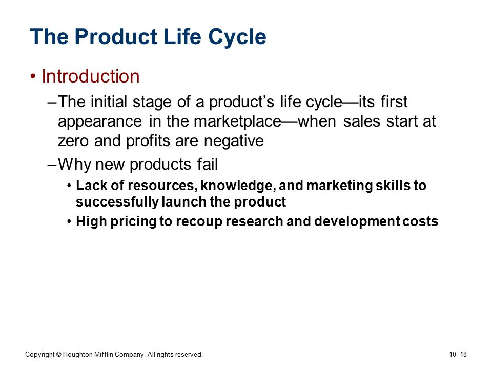 The Product Life Cycle Introduction