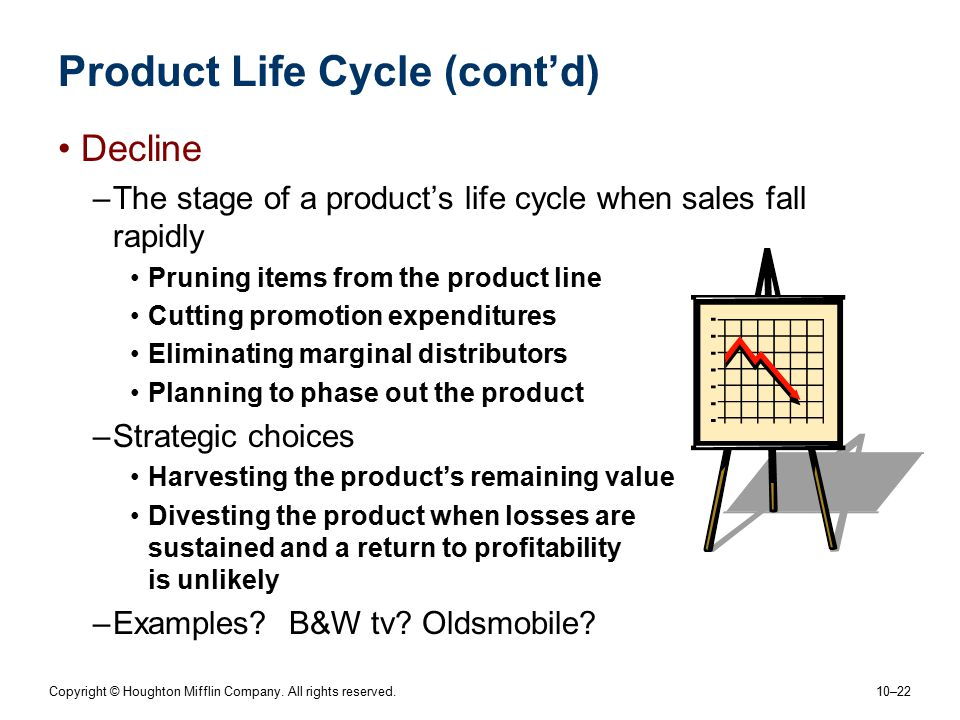 Product Life Cycle (cont'd)