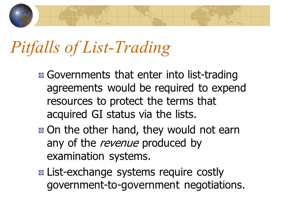 Pitfalls of List-Trading