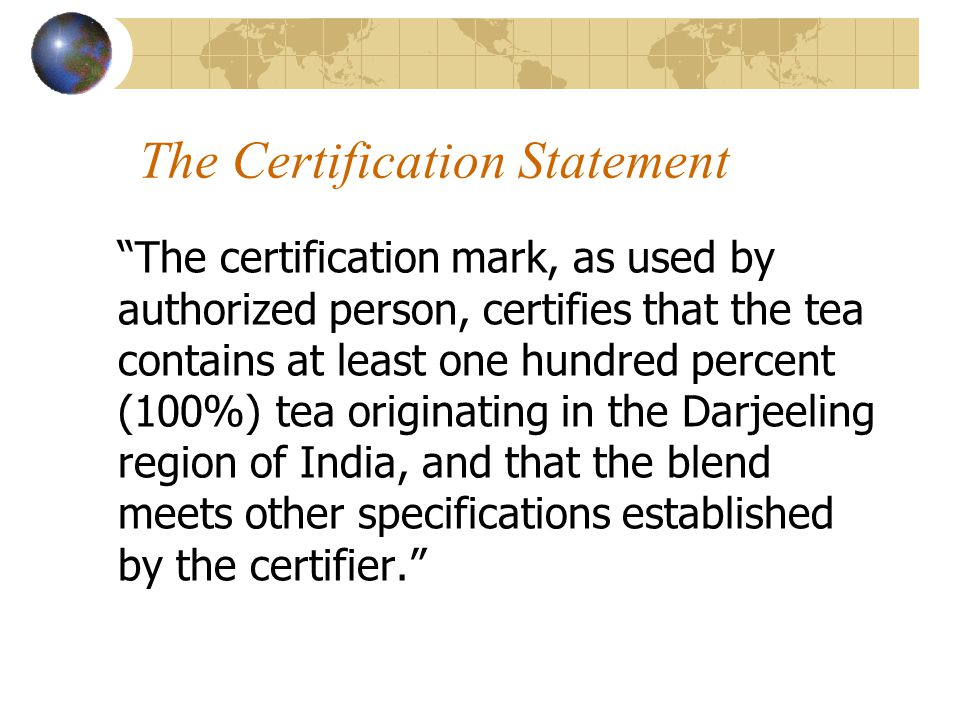 The Certification Statement