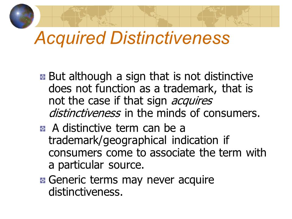 Acquired Distinctiveness