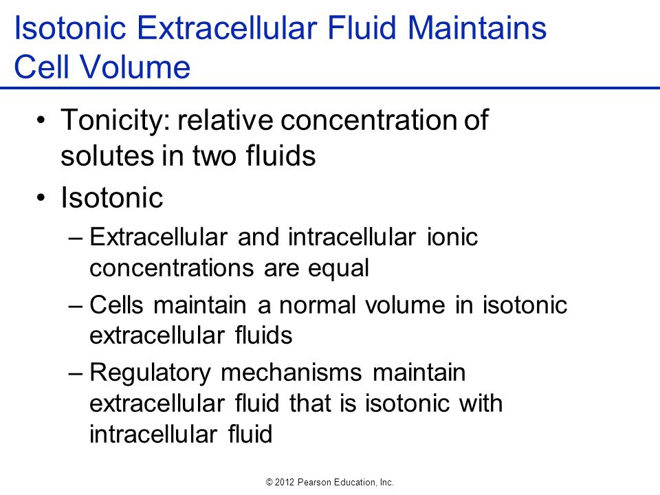Isotonic Extracellular Fluid Maintains Cell Volume