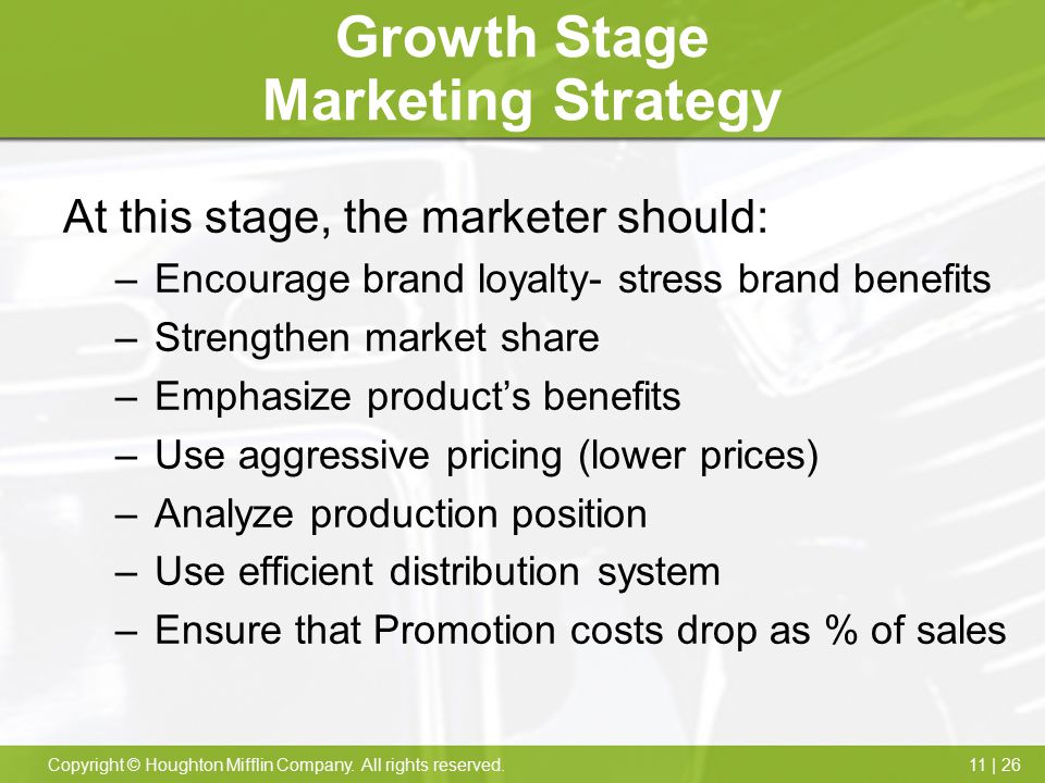 Growth Stage Marketing Strategy