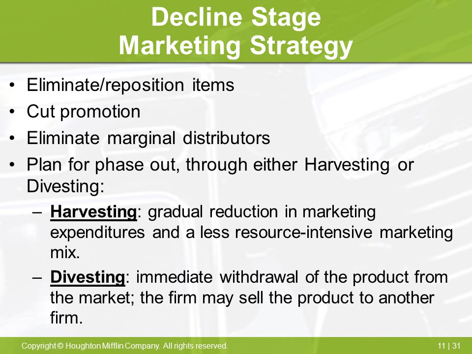 Decline Stage Marketing Strategy