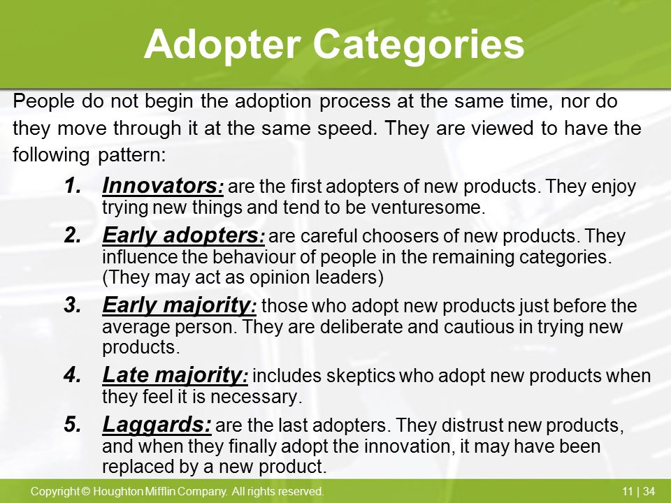 Adopter Categories