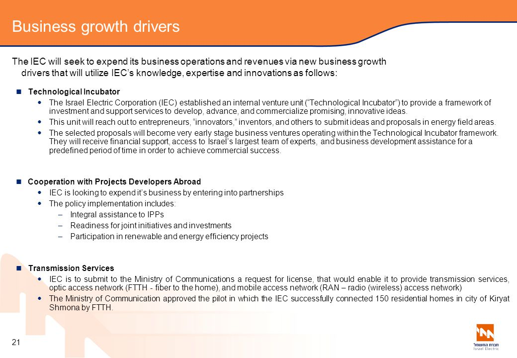 Business growth drivers