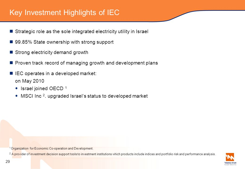 Key Investment Highlights of IEC