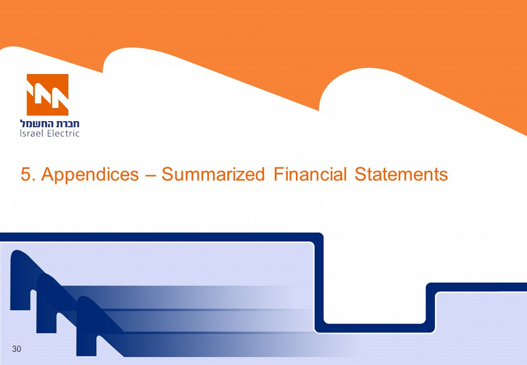 5. Appendices – Summarized Financial Statements