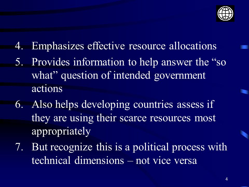 Emphasizes effective resource allocations