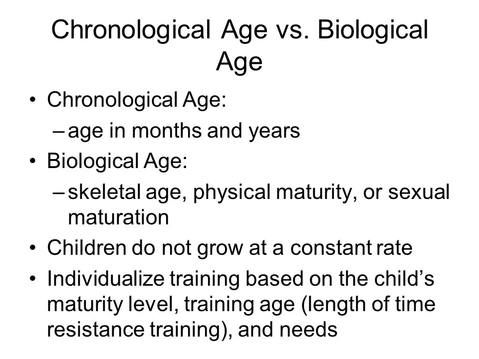 Chronological Age vs. Biological Age