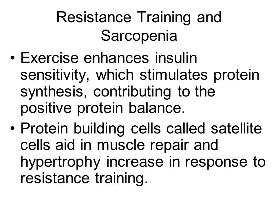 Resistance Training and Sarcopenia