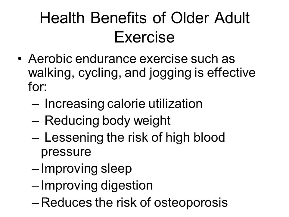 Health Benefits of Older Adult Exercise