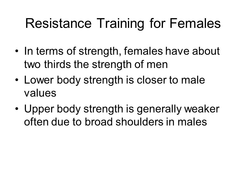 Resistance Training for Females