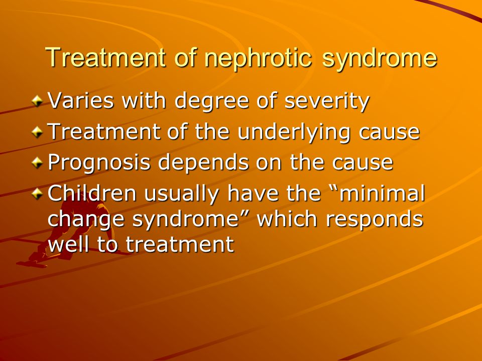 Treatment of nephrotic syndrome