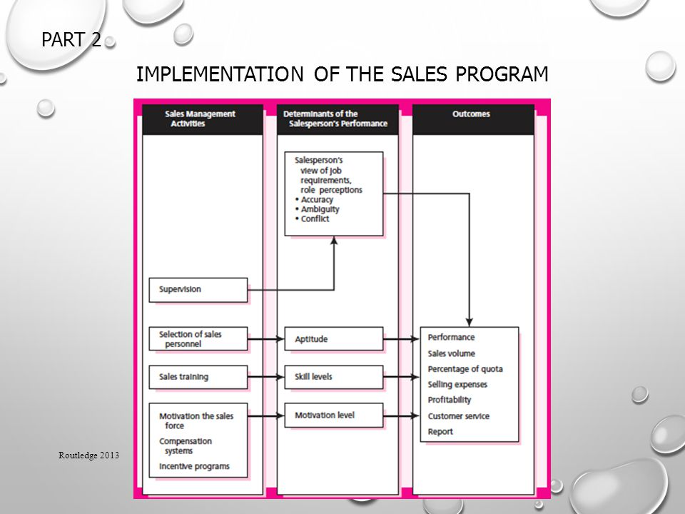 Implementation of the Sales Program