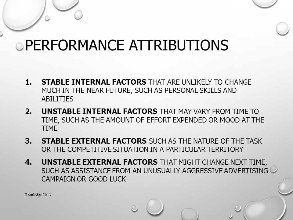 Performance Attributions