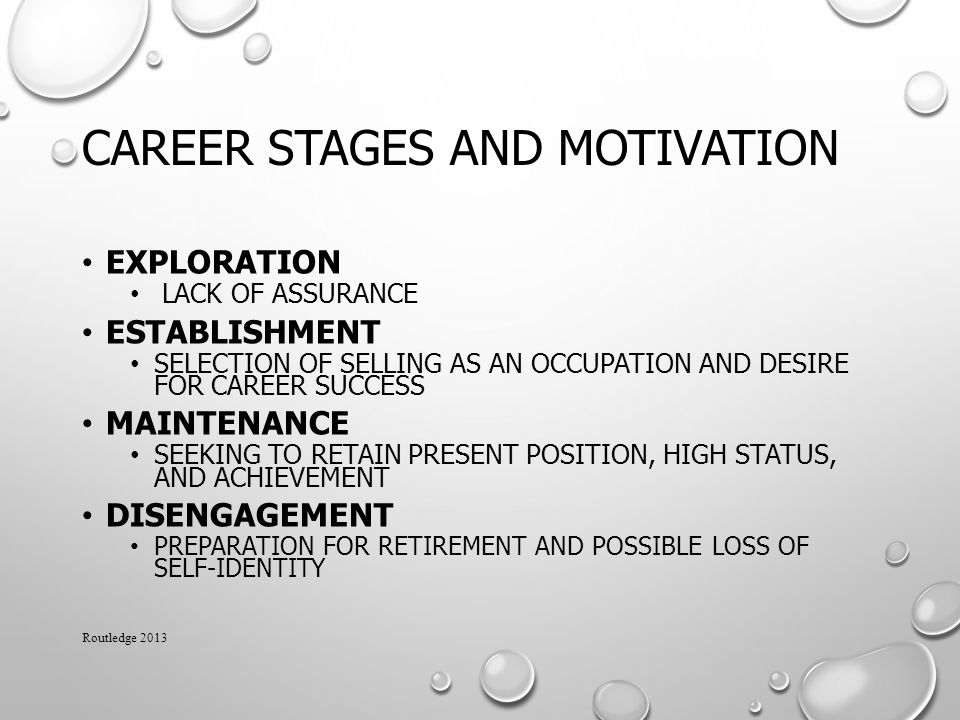 Career Stages and Motivation