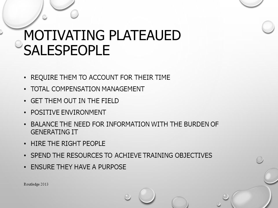 Motivating Plateaued Salespeople