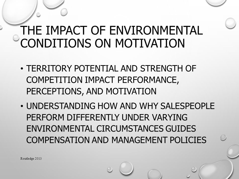 The Impact of Environmental Conditions on Motivation