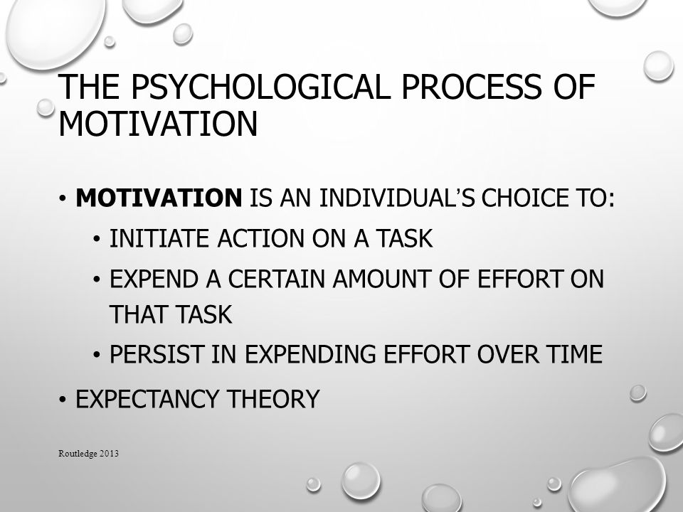 The Psychological Process of Motivation