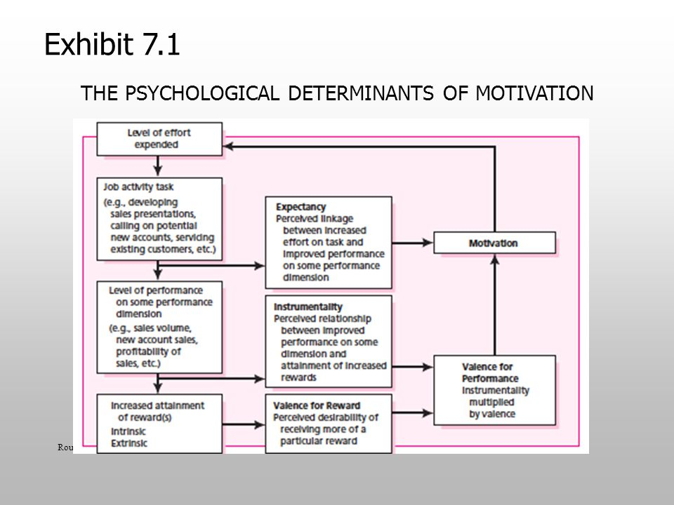 The Psychological Determinants of Motivation