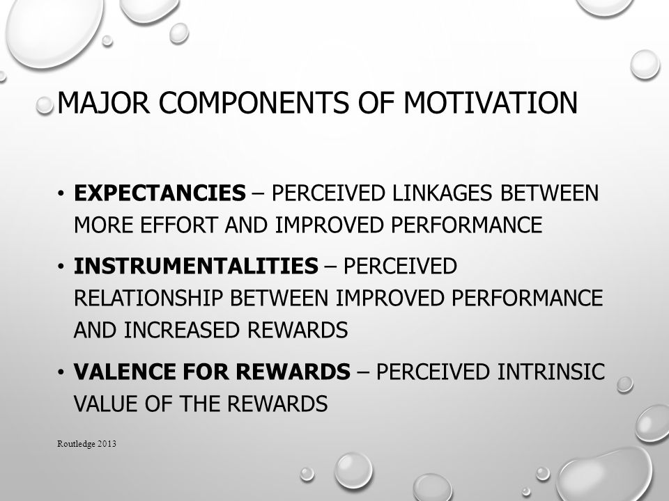Major Components of Motivation
