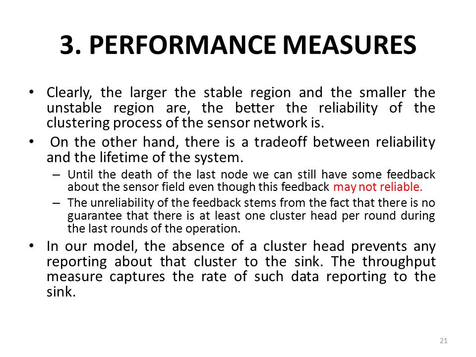 3. PERFORMANCE MEASURES