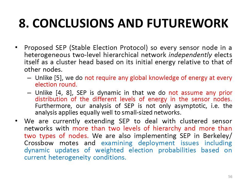 8. CONCLUSIONS AND FUTUREWORK