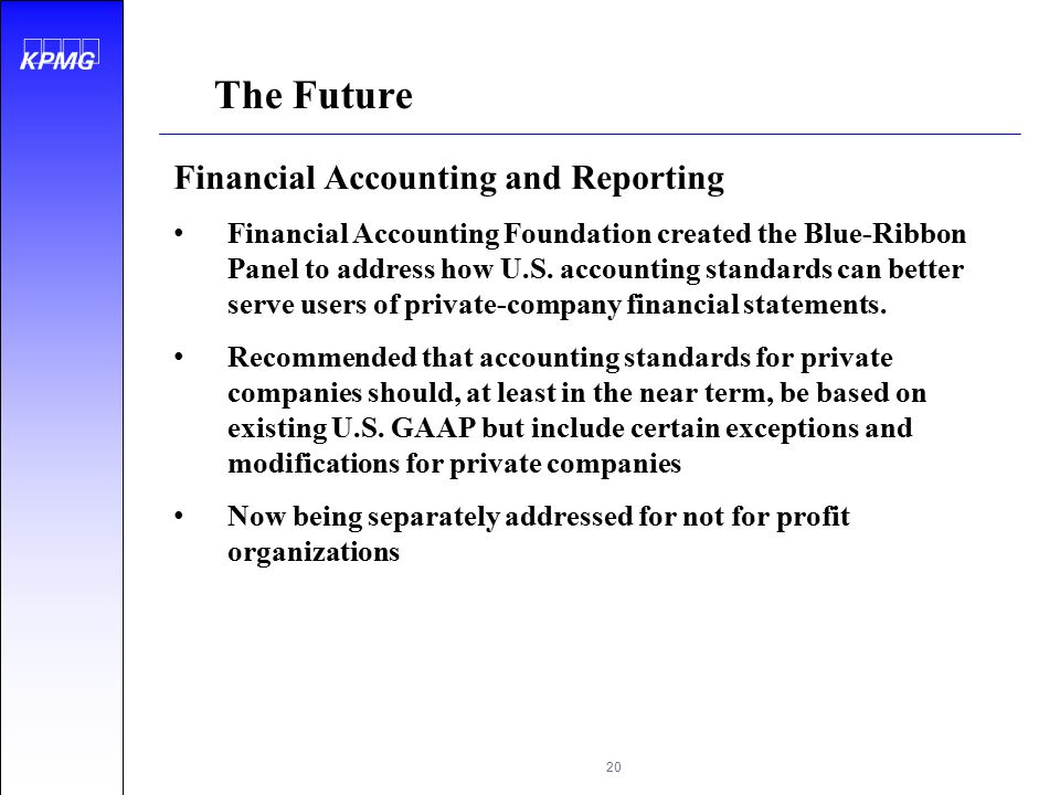 The Future Financial Accounting and Reporting