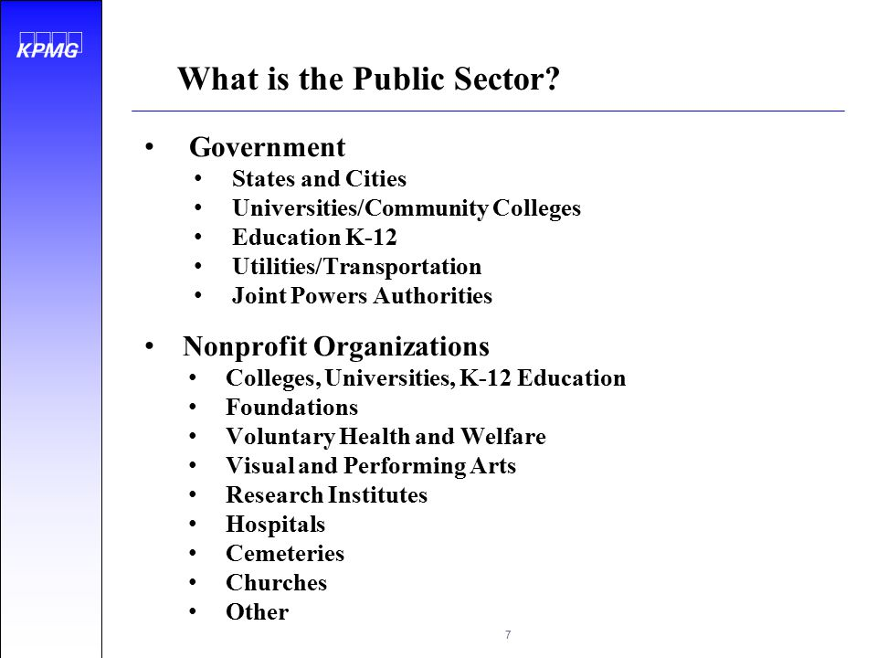 What is the Public Sector