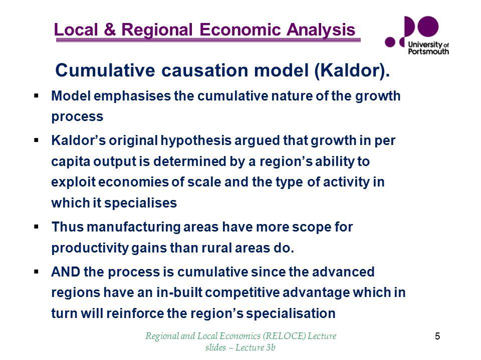 Cumulative causation model (Kaldor).