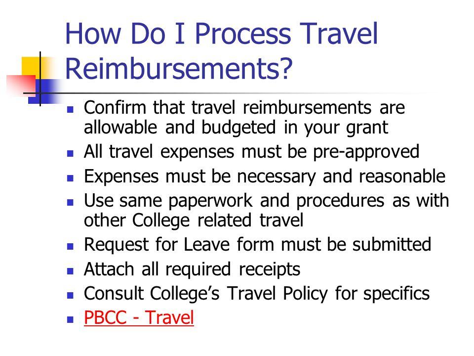 How Do I Process Travel Reimbursements