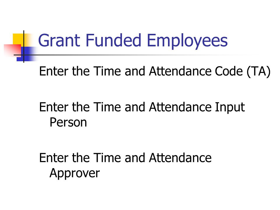 Grant Funded Employees