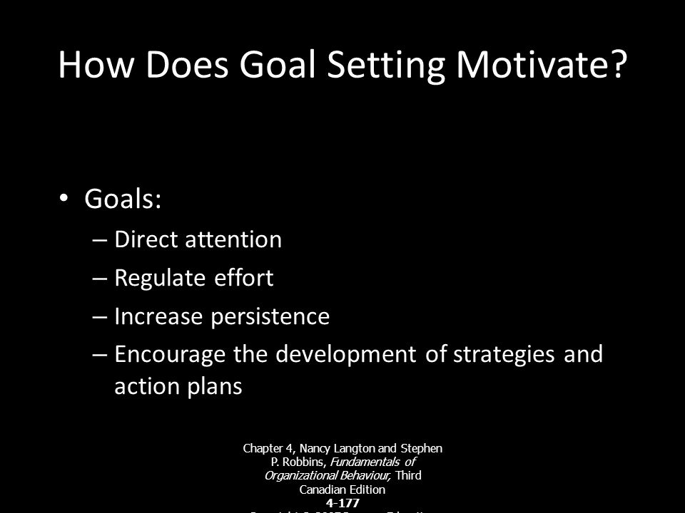 How Does Goal Setting Motivate