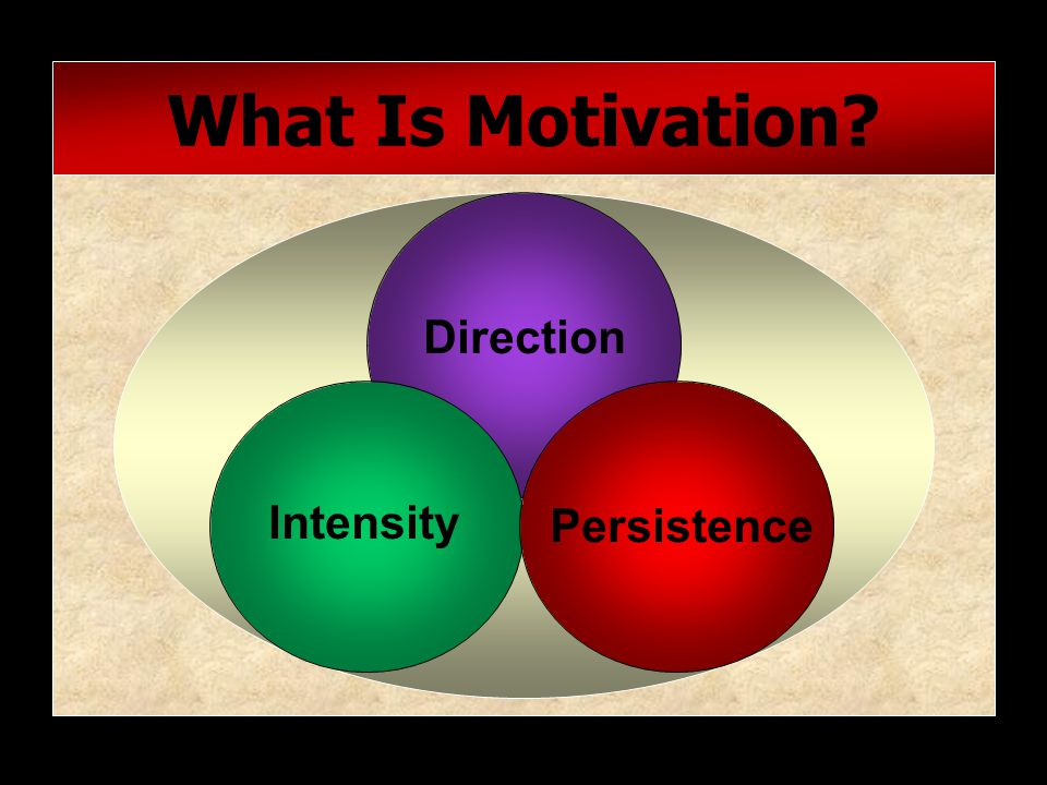What Is Motivation Direction Intensity Persistence
