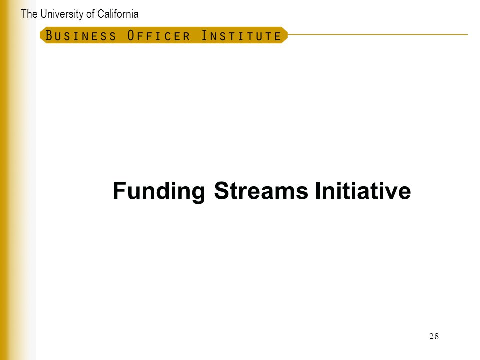 Funding Streams Initiative