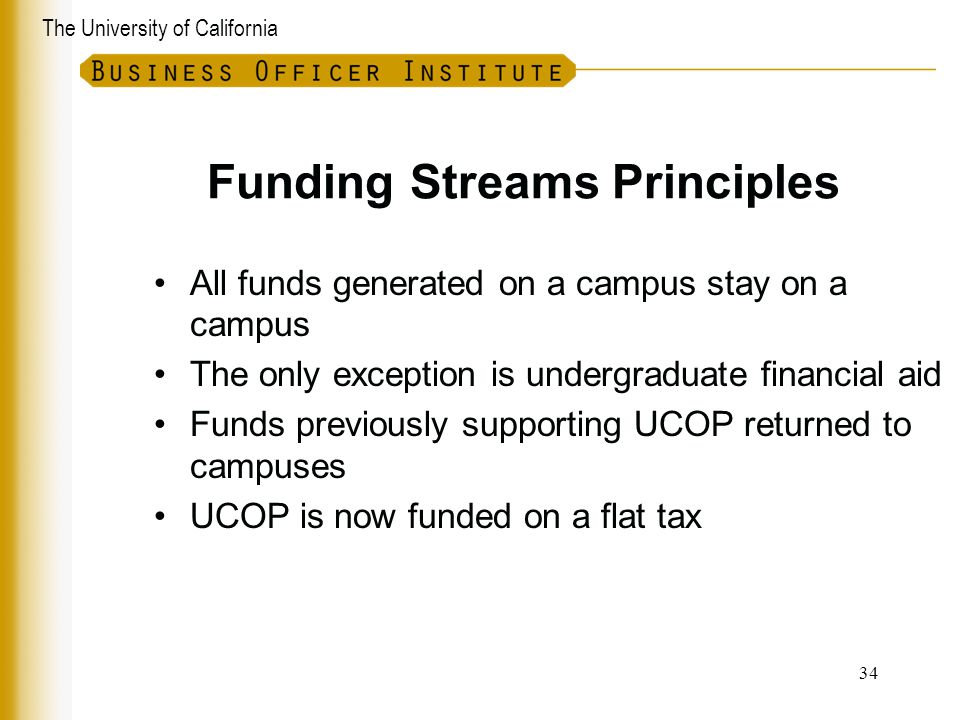 Funding Streams Principles