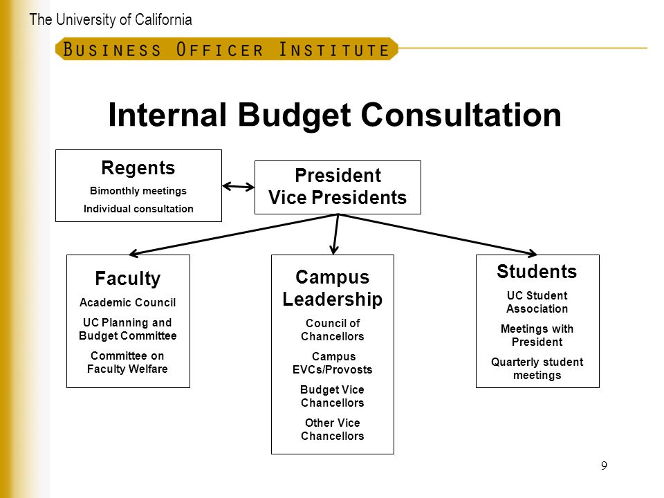 Internal Budget Consultation
