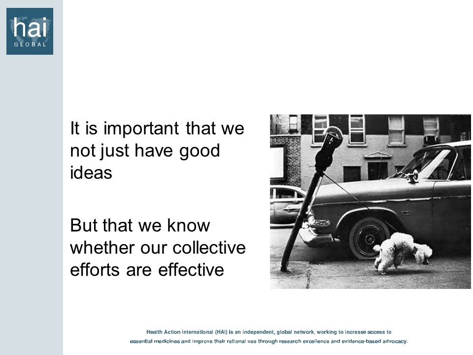 It is important that we not just have good ideas