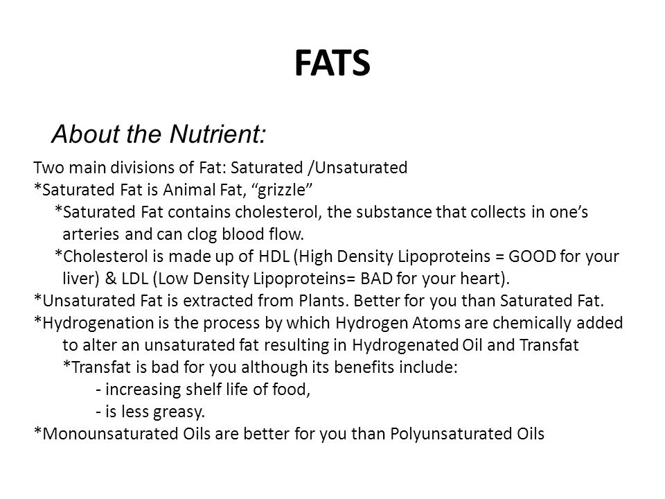 FATS About the Nutrient: