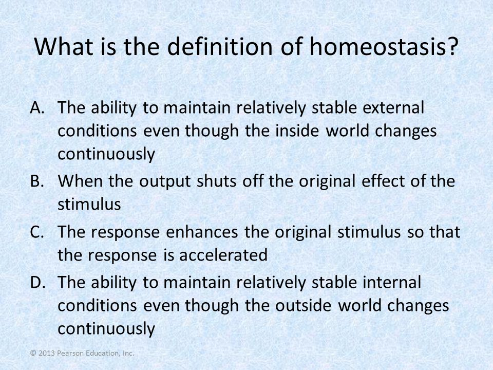 What is the definition of homeostasis